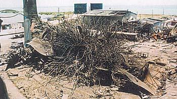 Рисунок 1. Картина полного разрушения котельной установки как свидетельство опасности взрыва в топке