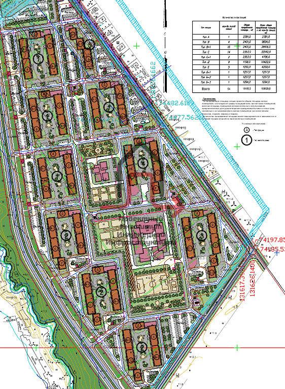 Разработка проектной документации наружных инженерных систем секционных жилых домов